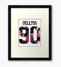 Jon Bellion - Colorful Flowers Framed Print