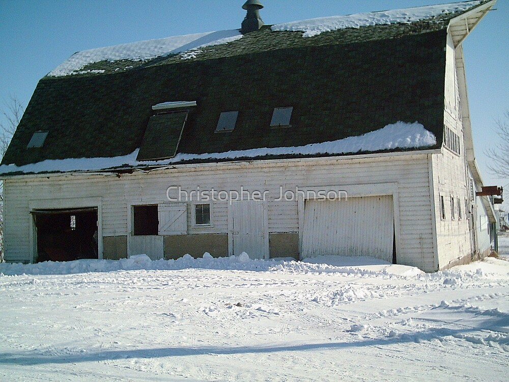 Barn at the farm in Iowa - Feb 2008 by Christopher Johnson