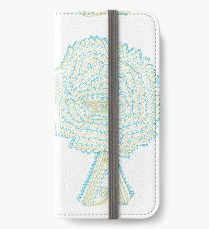 Azure & Gold Tree iPhone Wallet