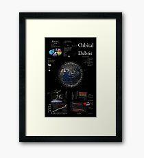 Space Infographic - Orbital Debris Framed Print
