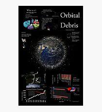 Space Infographic - Orbital Debris Photographic Print