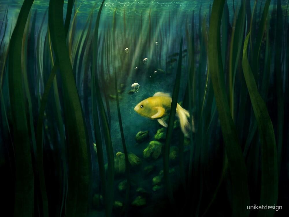 Little yellow fish by unikatdesign
