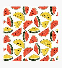 Vector Watermelon Pattern Photographic Print