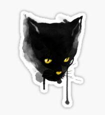 sumi cat Sticker