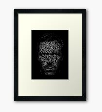 House MD made with text Framed Print