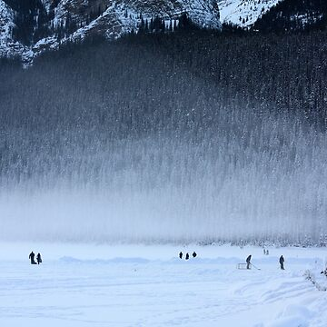 Hockey on Lake Louise by alycetaylor
