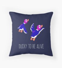 Ducky to be alive Throw Pillow