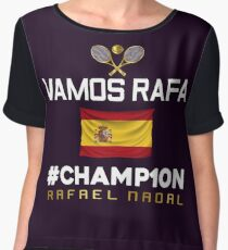 Champion of Roland Garros 2017 Rafa Nadal Women's Chiffon Top