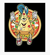 Cute Funny Pizza Slice Photographic Print