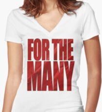 FOR THE MANY Women's Fitted V-Neck T-Shirt