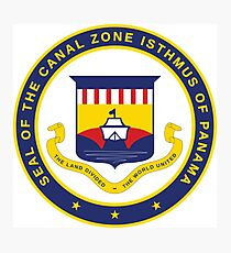 Seal of the Canal Zone Isthmus of Panama Photographic Print