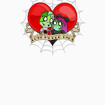 Love Never Dies by kookyspookyart