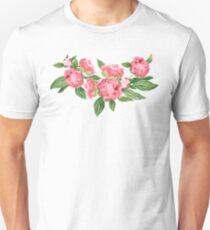 Watercolor Peonies Unisex T-Shirt