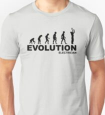 Evolution of Electrician T-Shirt
