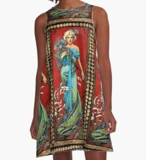 MM mucha red A-Line Dress