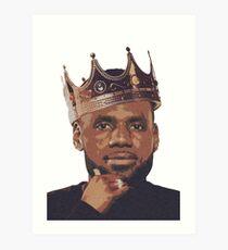 King Lebron James Art Print