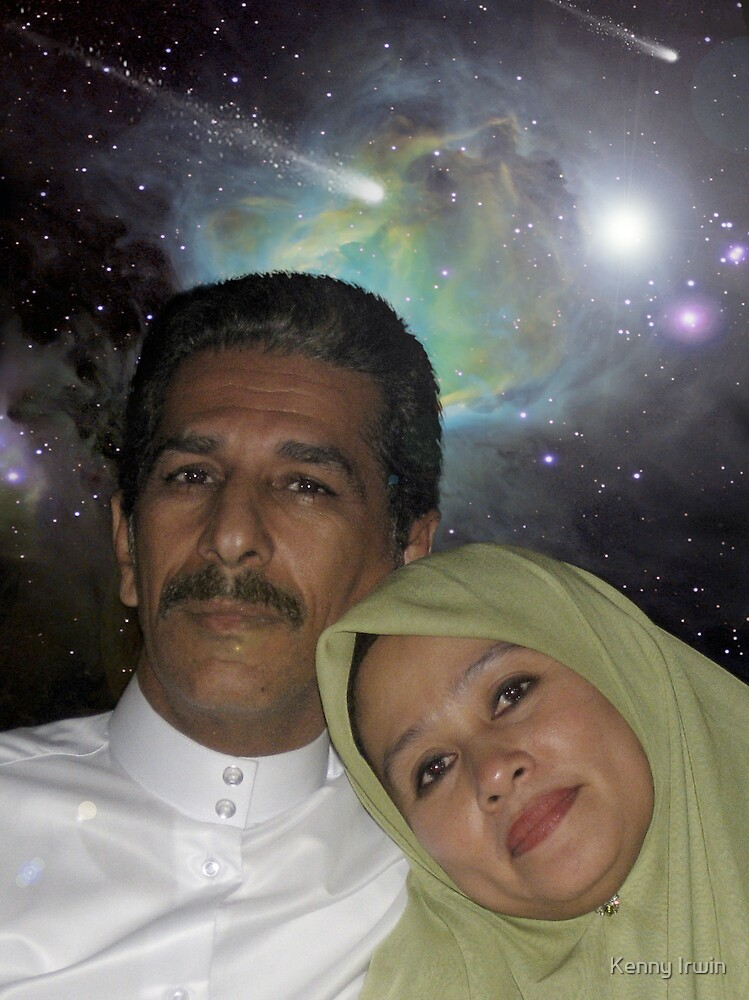 Cosmic Couple who seeds new love & new life by Kenny Irwin