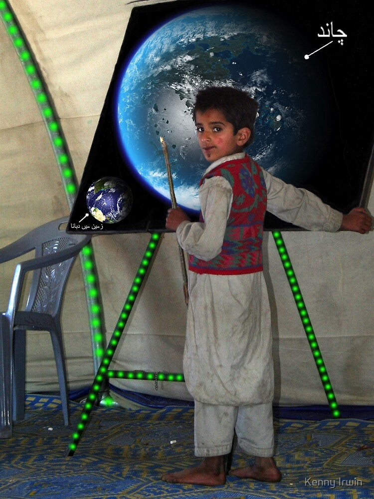 Haidar Khurshid Learns about Earth's Terraformed moon by Kenny Irwin