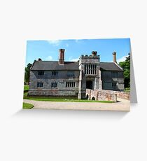 Baddesley Clinton, from the front. Greeting Card