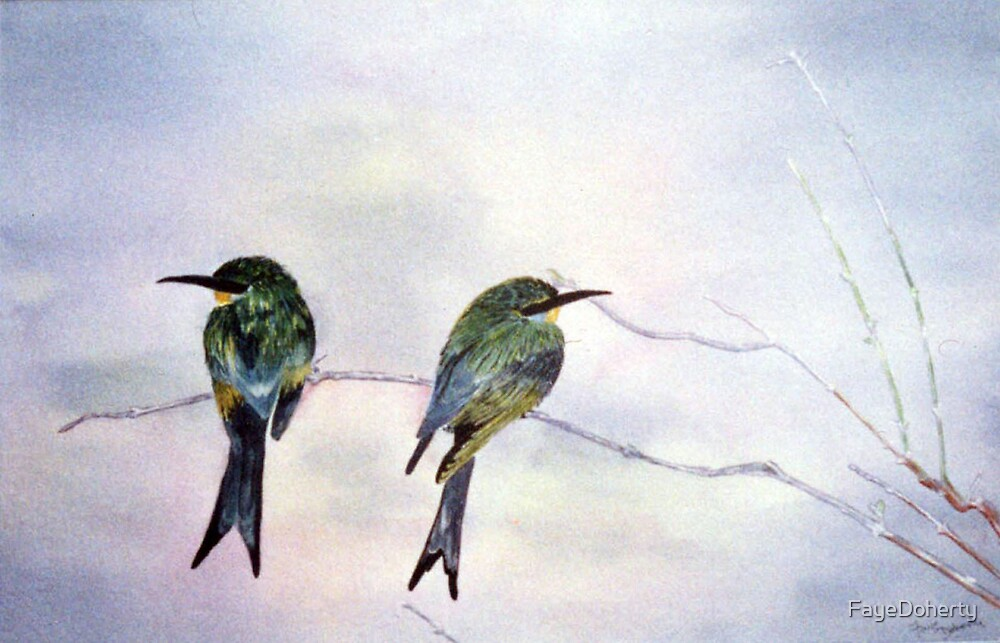 Swallow-tailed bee-eaters by FayeDoherty
