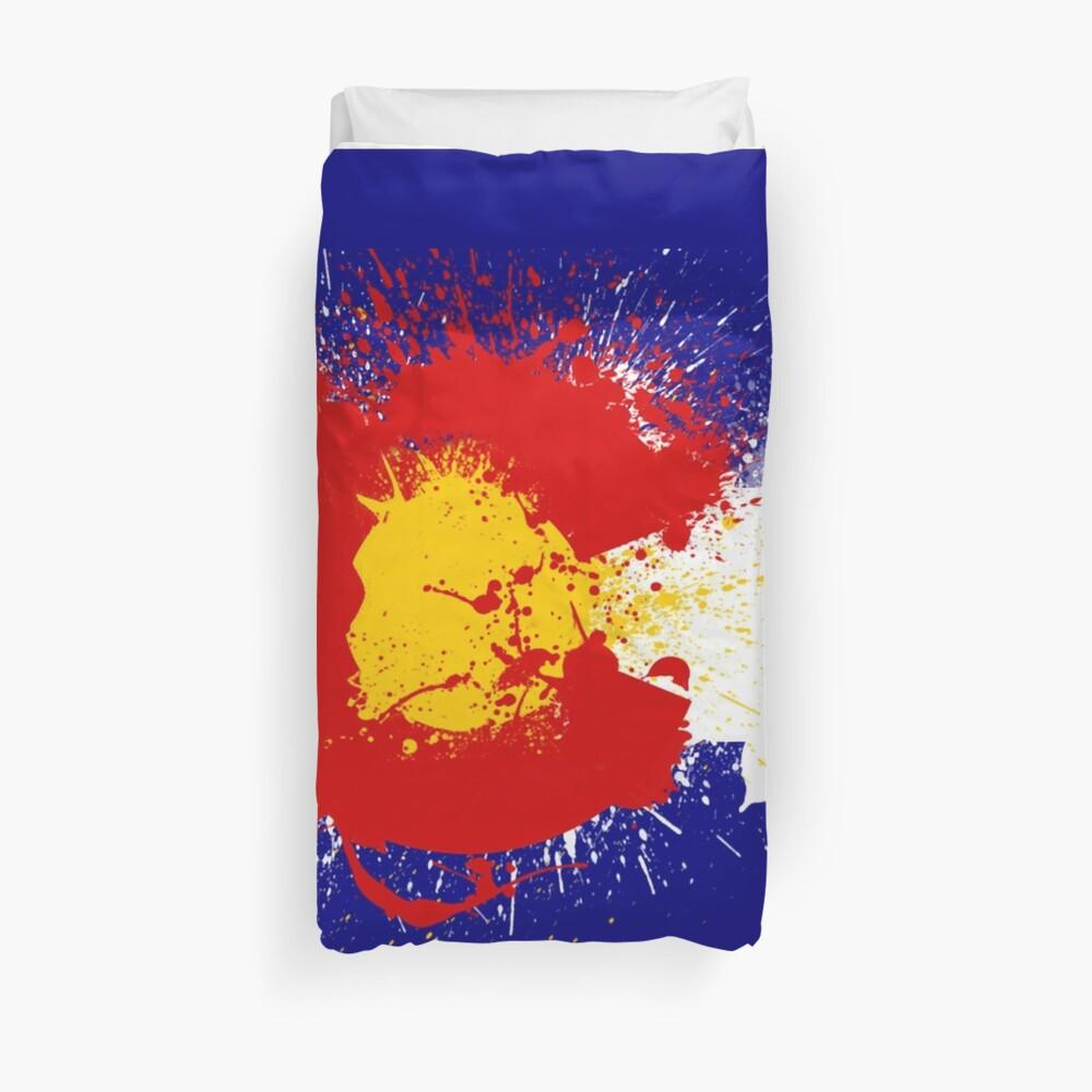 Colorado Flag Farbe Splatter Bettbezug