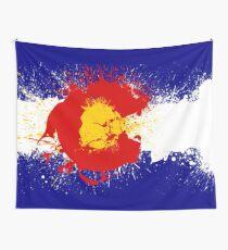 Colorado Flag Paint Splatter Wall Tapestry