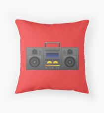 Retro Boombox Sound System Throw Pillow