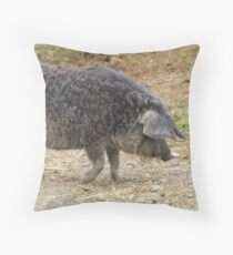 Mangalica Pig Throw Pillow