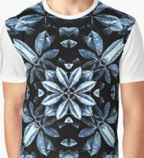 Metallic Leaves Mandala Graphic T-Shirt