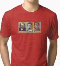 Beat Generation Jack Kerouac + Ginsberg + Cassady On The Road Tri-blend T-Shirt
