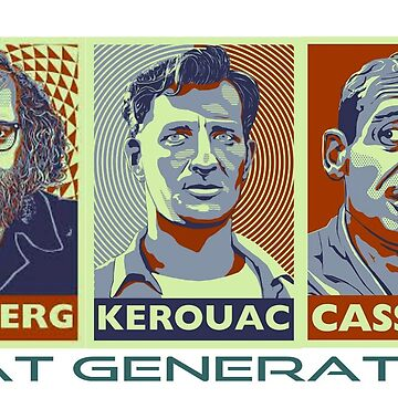 Beat Generation Jack Kerouac + Ginsberg + Cassady On The Road by TheWaW