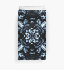 Metallic Leaves Mandala Duvet Cover