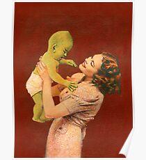 Vintage Alien Baby Poster