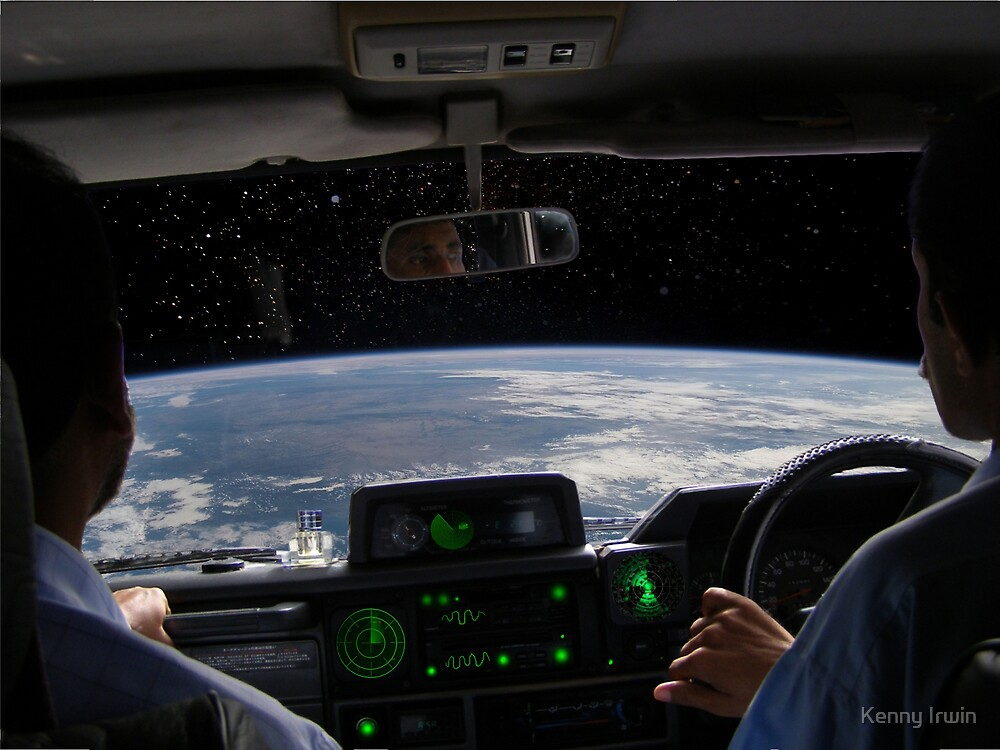 Hold on tight, we are breaking orbit Farooq by Kenny Irwin