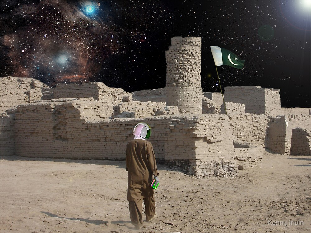 Pakistani Space Exploring Astronaut by Kenny Irwin