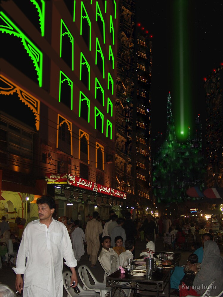 Lahore Skycity Repliwave Food Bazzar Nightlife in the 32nd Century by Kenny Irwin