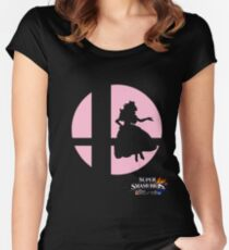 Super Smash Bros - Peach Women's Fitted Scoop T-Shirt