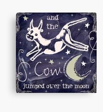 Nursery Rhymes III Cow Jump Moon Canvas Print