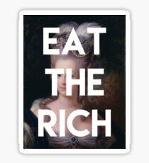 Pegatina comer los ricos