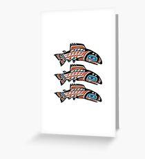 Upstream Swim Greeting Card