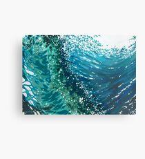 Crashing Ocean Waves Margaret Juul Metal Print