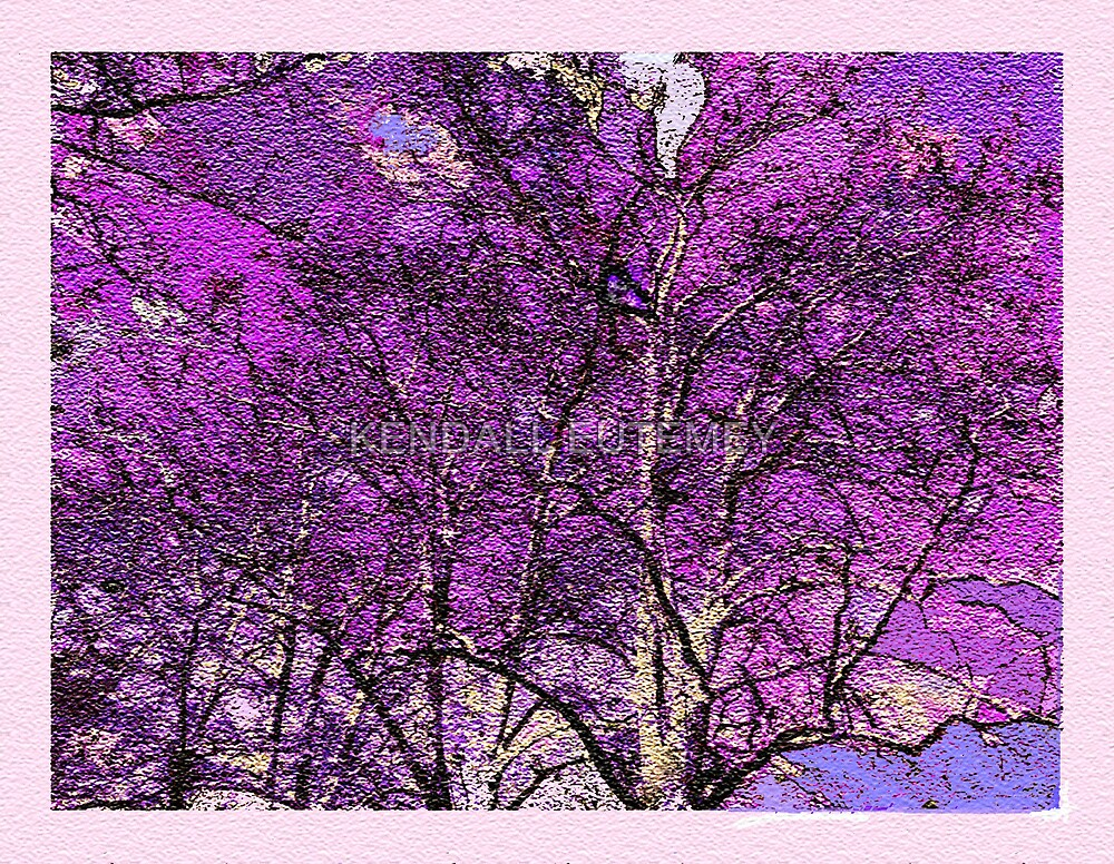 PURPLE TREES by KENDALL EUTEMEY