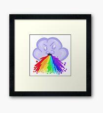 Rainbow barf Framed Print