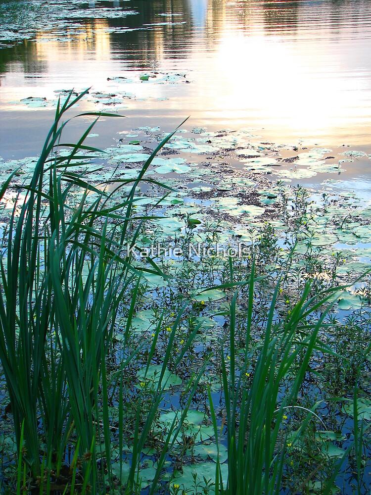 Blue Pond at Sunset by Kathie Nichols