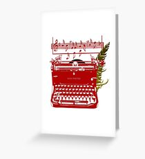 Song Writer On Staff Greeting Card