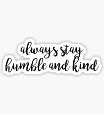 HUMBLE AND KIND   Tim McGraw Sticker