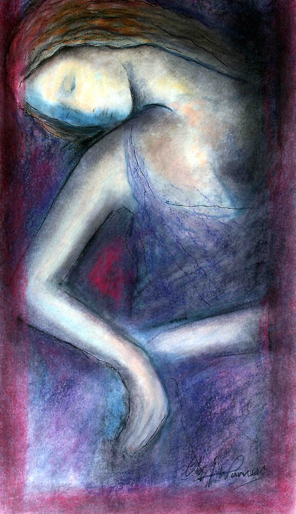 Resting Woman by cliffwarner