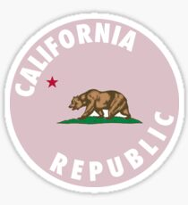 california pink colored  Sticker