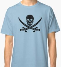 Calico Jack Pirate Flag - Black Classic T-Shirt