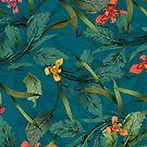 Rüben und Irises Allover-Muster von lascarlatte